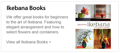 Ikebana Books. We offer great books for beginners to the art of ikebana.  Featuring elegant arrangement and how to select flowers and containers. View all Ikebana books.