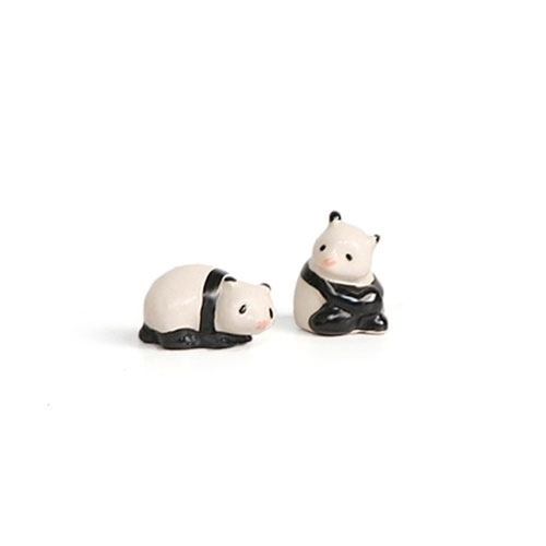 Pink-Nosed Pandas Figurines
