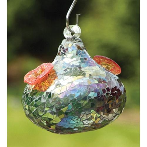 Bird Brain Mosaic Glass Hummingbird Feeder