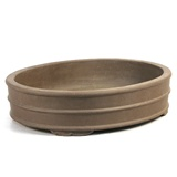 "Oval Ceramic Pot 15.5"" Bonsai Tree Pot"