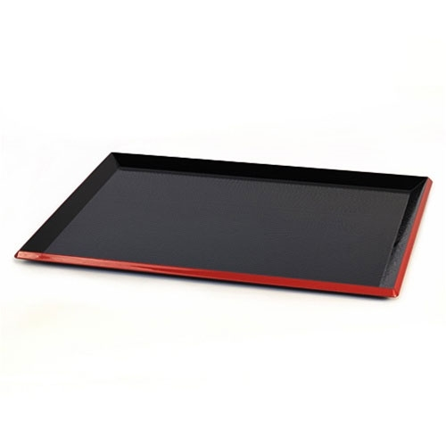 Large Raised Tray with Red Lip- 13.5""