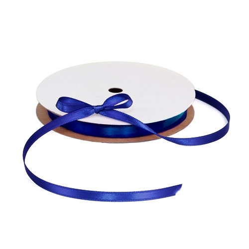 Satin Blue Ribbon 1/4""