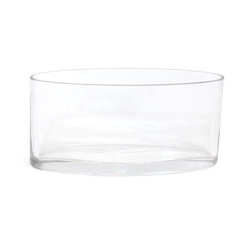 Long Oval Glass Vase