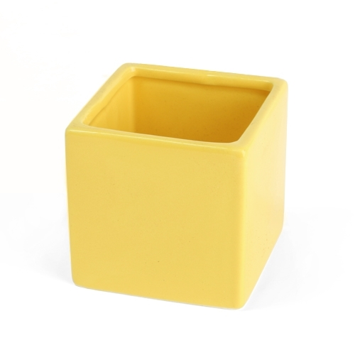 Modern Square Yellow 3.25'' Pot