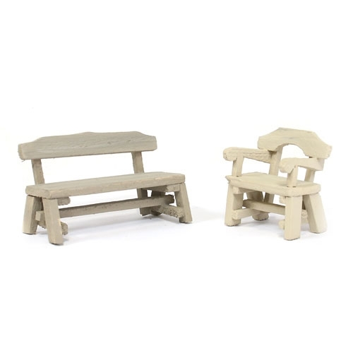 Farm Chair & Bench Set