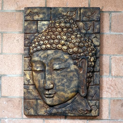 Small Relief Buddha Face Wall Decor