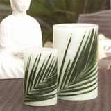 Palm Leaf Inlaid Wax Hurricanes