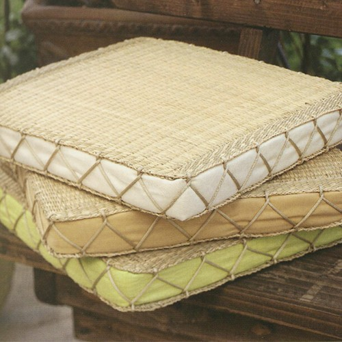Grass Floor Pillows : Seagrass Floor Cushion
