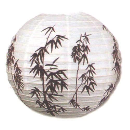 "16"" Bamboo Branches Paper Lantern"