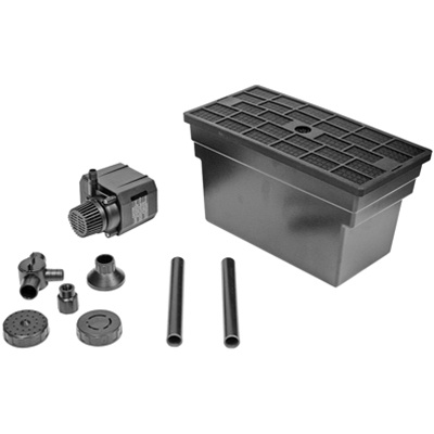 Beckett pond filter w g325ag20 for Pond pump filter box
