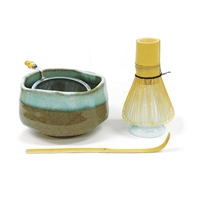 Japanese Matcha Kit with Woods Bowl