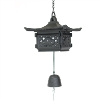 Large Square Pavilion Cast Iron Wind Chime