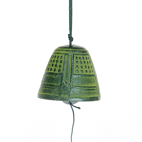 Small Green Bell Cast Iron Wind Chime