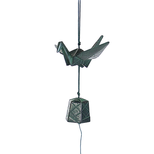 Origami Crane Cast Iron Wind Chime