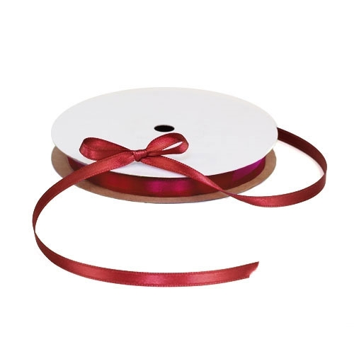 Satin Red Ribbon 1/4""