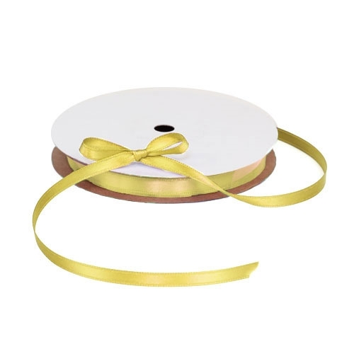 Satin Yellow Ribbon 1/4""