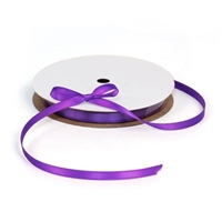 Satin Purple Ribbon 1/4""