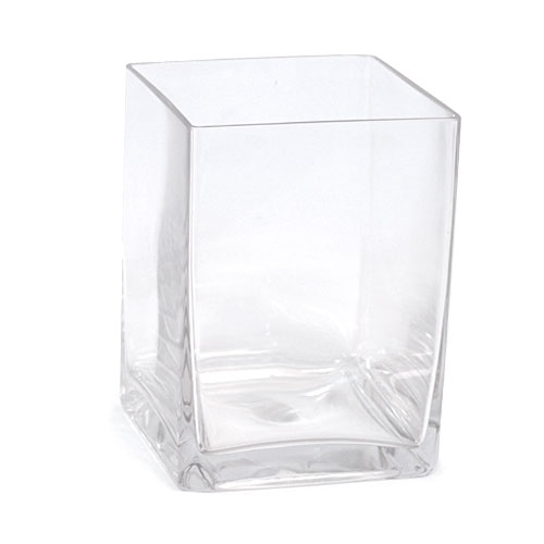 Medium Square Glass Vase