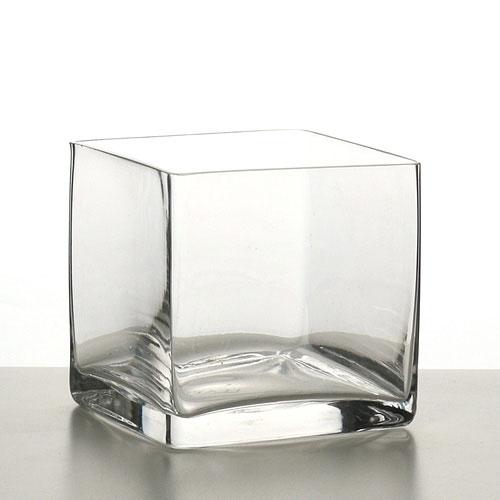 Square Glass Terrarium Vase