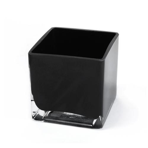Black Square Glass Vase