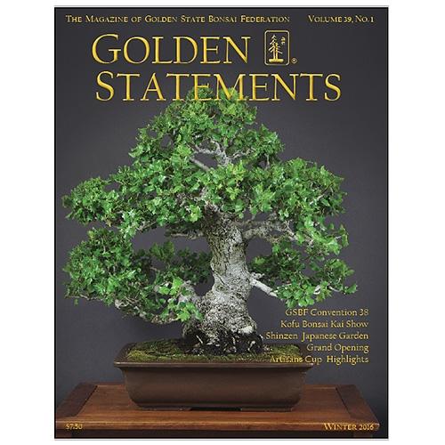 Golden Statements Bonsai Magazine 1 Year Subscription