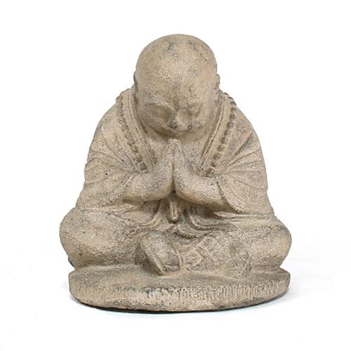 Bowing Monk Statue