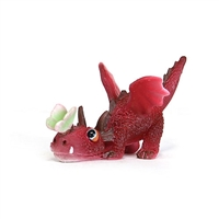Mini Red Dragon with Butterfly