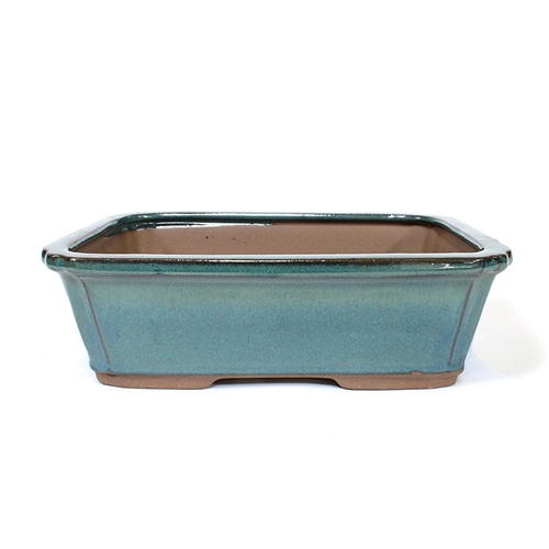 "10"" Green Rectangle Pot"