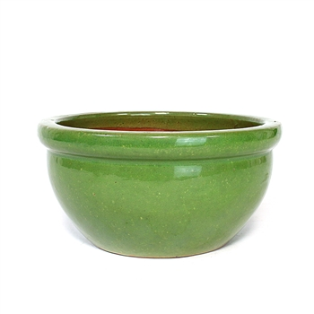 "10"" Green Bowl Planter"