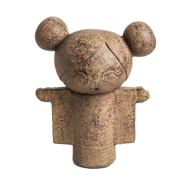 "Kind Hearted Kokeshi Doll 9"" Stone Washed"