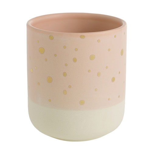 "3.7"" Peach Dreams Cylinder Vase"