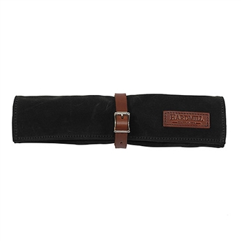 Waxed Canvas Bonsai Tool Roll - Black