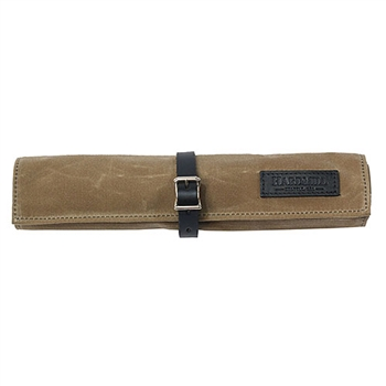 Waxed Canvas Bonsai Tool Roll - Tan