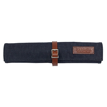 Waxed Denim Bonsai Tool Roll - Blue