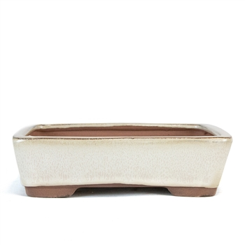 "8"" Beige Tapered Rectangle Pot"