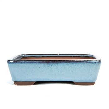 "8"" Light Blue Tapered Rectangle Pot"