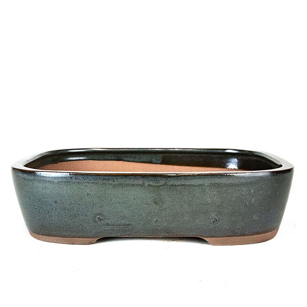 "10.75"" Dark Teal Rectangle Pot"