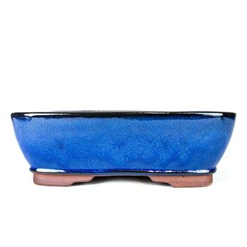 "12"" Blue Rounded Rectangle Pot"
