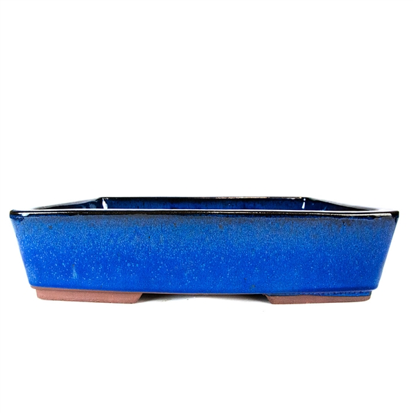 "14.5"" Blue Tapered Rectangle Pot"