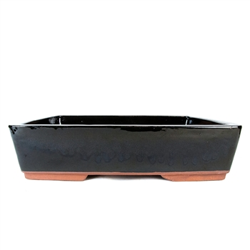 "14.5"" Black Tapered Rectangle Pot"