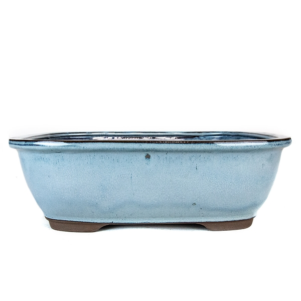 "13"" Light Blue Rectangle Pot"
