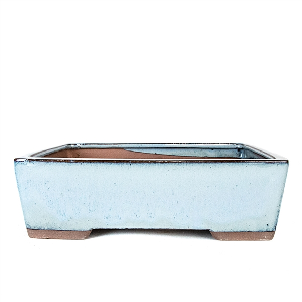 "10.75"" Light Blue Modern Rectangle Pot"