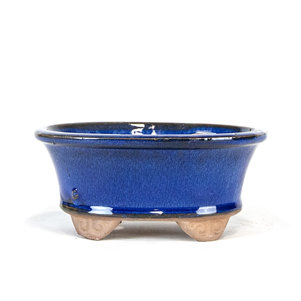"6.25"" Blue Footed Oval Pot"