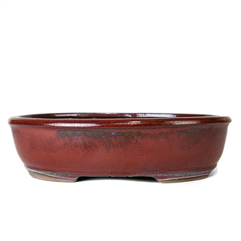 "12"" Red Oval Pot"