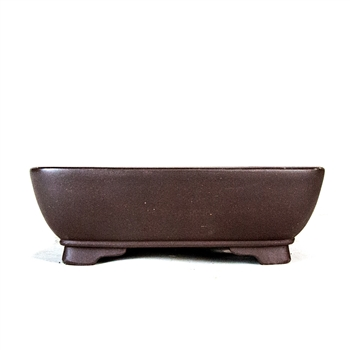 "8.25"" Handmade Unglazed Rounded Rectangle Pot"