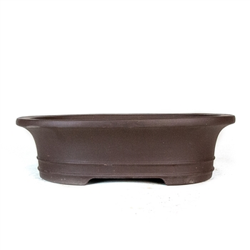"10.25"" Handmade Unglazed Flared Oval Pot"