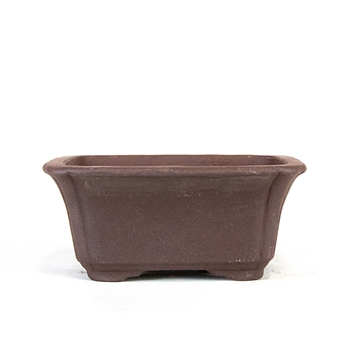"6"" Unglazed Tall Rectangle Pot"