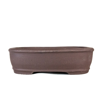 "8.25"" Unglazed Rounded Rectangle Pot"