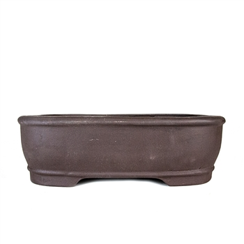 "10.25"" Unglazed Rounded Rectangle Pot"