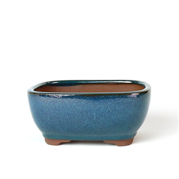 "6.5"" Teal Tall Rounded Rectangle Pot"